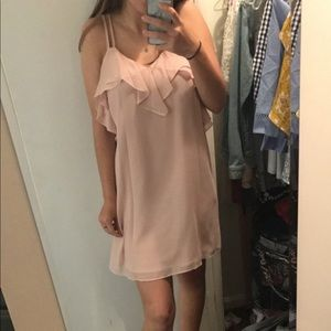 BCBG Ruffle Trim Mini Dress